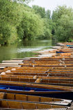 Punts. Moored on the river in Oxford stock image