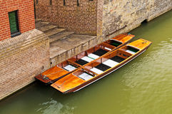 Punts or boats near building Stock Image