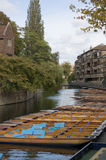 Punts on the Cam, Cambridge Royalty Free Stock Photo