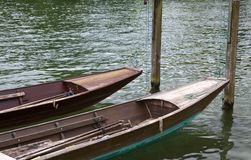 Punts on the river Royalty Free Stock Photography