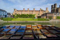 Punts on river Cam Stock Photography