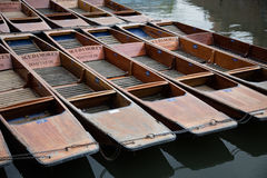 Punts on the River Cam in Cambridge Royalty Free Stock Photography