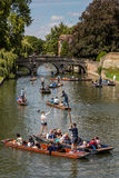 Punts on the River Cam in Cambridge Royalty Free Stock Image
