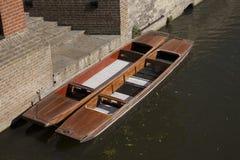 Punts on River Carn, Cambridge Royalty Free Stock Photos
