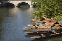 Punts on River Carn, Cambridge Royalty Free Stock Photography