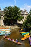 Punts on river, Oxford. Stock Image