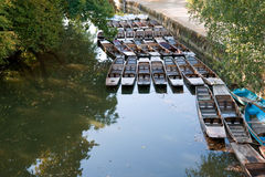 Punts on the river. Oxford, UK Royalty Free Stock Photos