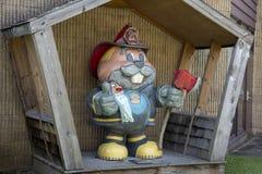 Punxsutawney Phil dressed as Fireman. Punxsutawney, Pennsylvania, USA - June 30, 2018 : Punxsutawney Phil, Groundhogs Day`s official furry prognosticator stock images