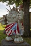 Punxsutawney Phil as Statue of Liberty. Punxsutawney, Pennsylvania, USA - June 30, 2018 : Punxsutawney Phil, Groundhogs Days official furry prognosticator stock photos