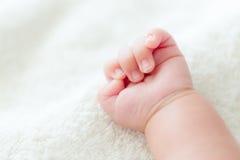 Puño del bebé Foto de archivo libre de regalías