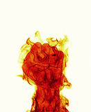 Puño del fuego del infierno Imagen de archivo