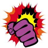 Puños de la fuerza, emblema de los artes marciales. Vector. Fotos de archivo libres de regalías