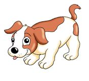 Pup of dog. Colored illustration of a pup of dog Stock Images