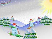 Pupazzi di neve Royalty Illustrazione gratis