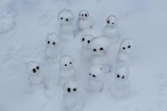 Pupazzi di neve Fotografie Stock