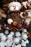 Pupazzi di neve al servizio di natale fotografia stock