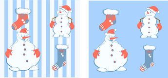 Pupazzi di neve del nuovo anno Fotografia Stock
