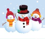 Pupazzi di neve dell'illustrazione Immagine Stock