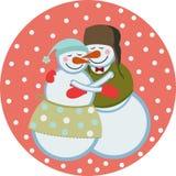Pupazzi di neve di amore Fotografie Stock
