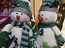 Pupazzi di neve di Natale Fotografia Stock