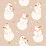 Pupazzi di neve divertenti Immagine Stock Libera da Diritti
