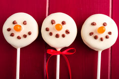 Pupazzi di neve e schiocchi del dolce della renna Immagini Stock Libere da Diritti