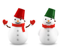 Pupazzi di neve, illustrazione 3D Fotografie Stock