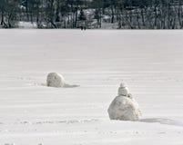Pupazzi di neve parziali immagini stock