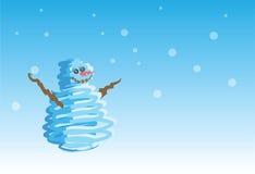 Pupazzo di neve - 2 di 6 cartoline di Natale Fotografia Stock Libera da Diritti