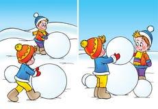 Pupazzo di neve illustrazione vettoriale