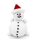 pupazzo di neve 3d illustrazione vettoriale