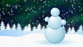 Pupazzo di neve stock footage