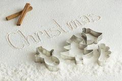 Pupazzo di neve, albero, campana Immagine Stock Libera da Diritti