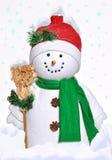 Pupazzo di neve allegro Immagine Stock