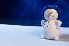 Pupazzo di neve allegro Immagini Stock Libere da Diritti