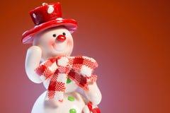 Pupazzo di neve allegro Immagini Stock