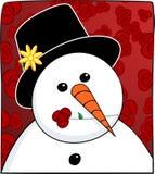 Pupazzo di neve & Rosa Immagini Stock Libere da Diritti