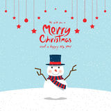 Pupazzo di neve (cartoline di Natale) Fotografie Stock