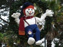 Pupazzo di neve coccolo Fotografie Stock Libere da Diritti