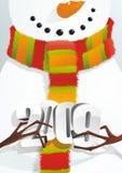 Pupazzo di neve con figura 2009 royalty illustrazione gratis