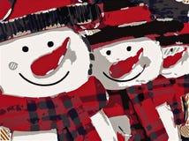 Pupazzo di neve con il naso rosso Fotografia Stock Libera da Diritti
