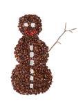 Pupazzo di neve del caffè Immagine Stock Libera da Diritti