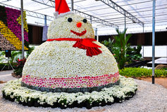 Pupazzo di neve del fiore Immagine Stock Libera da Diritti