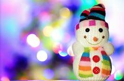 Pupazzo di neve del giocattolo Fotografie Stock Libere da Diritti