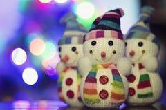 Pupazzo di neve del giocattolo Fotografia Stock