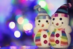 Pupazzo di neve del giocattolo Fotografia Stock Libera da Diritti