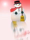 Pupazzo di neve del paese delle meraviglie di inverno Fotografie Stock
