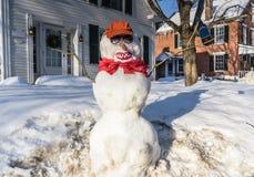 Pupazzo di neve dell'agricoltore del Sud - Grafton, Vermont Fotografia Stock
