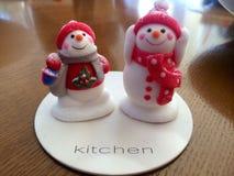 Pupazzo di neve dello zucchero candito Fotografia Stock