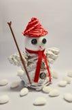 Pupazzo di neve di carta Fotografia Stock Libera da Diritti